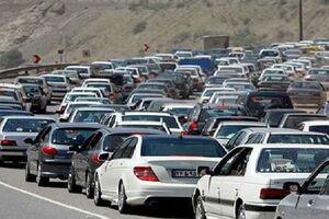 ترافیک سنگین در محور بومهن - تهران