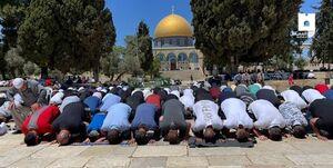 یک اتفاق عجیب در نمازجمعه مسجدالاقصی+ فیلم