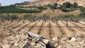 فیلم/ عبور جوانان اردنی از مرز فلسطین