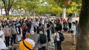 راهپیمایی حمایت از ملت مظلوم فلسطین در ژاپن برگزار شد