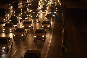 ترافیک فوق سنگین در ورودیهای شرقی پایتخت - کراپشده