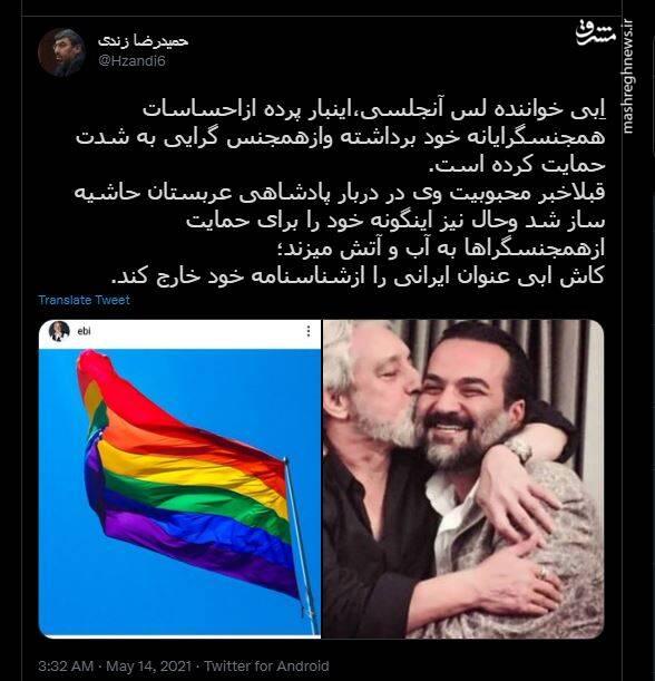 حمایت خواننده معروف لس آنجلسی از هجنسبازی! +عکس