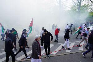 عکس/ حمله پلیس دانمارک به تظاهرات حمایت از فلسطین