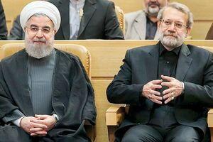 توییت تشکر روحانی از لاریجانی+ عکس