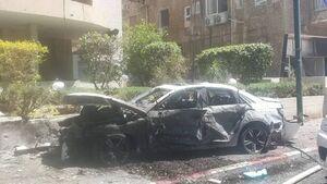 عکس/ هدف قرارگرفتن خودروها در تل آویو