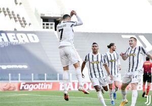 پیروزی یوونتوس در دربی ایتالیا و تداوم رقابت برای صعود به لیگ قهرمانان