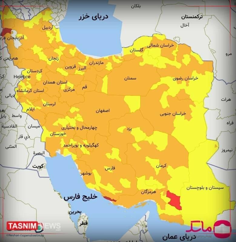 حذف محدودیتها و احتمال پیک پنجم/ روند کُند واکسیناسیون/ روستاها کانونهای جدید ابتلا +نقشه