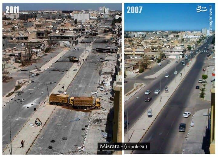 وضعیت لیبی بعد از دموکراسی آمریکایی+ عکس