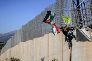 عکس/ پرچم ایران در مرز لبنان و فلسطین اشغالی