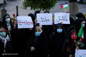 عکس/ تجمع مردمی حمایت از غزه در تبریز