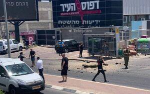 عکس/ حمله موشکی مقاومت فلسطین به «نتیووت»