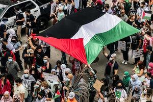 عکس/ اهتزاز پرچم فلسطین در تگزاس