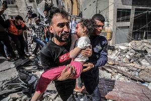 تصاویر دلخراش از جنایت جدید صهیونیستها در غزه