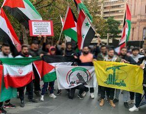 عکس/ پرچم ایران در تظاهرات سیدنی در حمایت از فلسطین