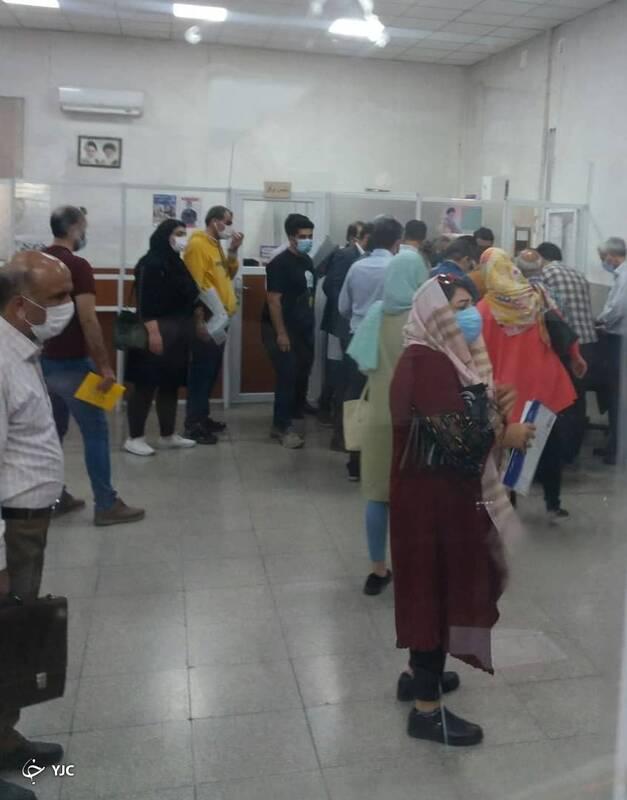 جولان ویروس کرونا در یک مرکز تعویض پلاک تهران + تصاویر