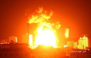 حمله جنگنده های صهیونیستی به منازل مسکونی در شهر غزه
