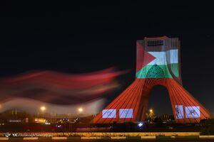 فیلم/ ویدئومپینگ همدردی با مردم مظلوم غزه در برج آزادی