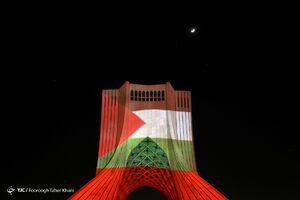 عکس/ نورپردازی سه بعدی همدردی با مردم مظلوم غزه