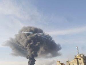 عکس/ آتش سوزی گسترده در غزه