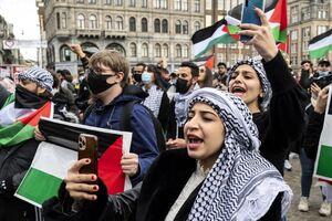 عکس/ تظاهرات همبستگی با مردم فلسطین در پایتخت هلند