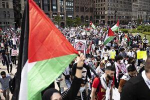 تظاهرات در شیکاگو در همبستگی با مردم غزه