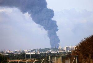 فیلم/ بمباران کارخانه فومکو در شمال غزه