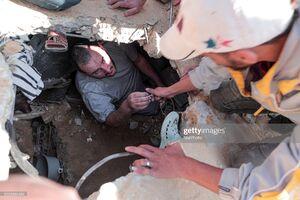 تصاویری دردناک از مدفون شدن فلسطینیها زیر آوار