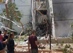 اولین تصاویر از اصابت راکت به شهر اشغالی اسدود