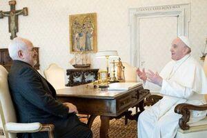در دیدار ظریف با پاپ فرانسیس چه گذشت؟ +فیلم