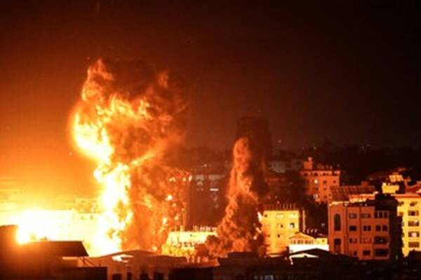 حملات هوایی، پهپادی و توپخانهای سنگین رژیم صهیونیستی +عکس