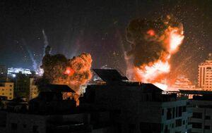 تصاویری از بمباران غزه به دست رژیم صهیونیستی