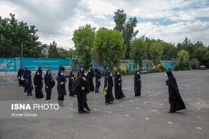 عکس/ برگزاری آزمون نهایی حضوری مدارس در قم
