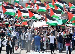 عکس/ تظاهرات بزرگ حمایت از فلسطین در میشیگان
