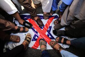 عکس/ آتش زدن پرچم اسرائیل در پاکستان