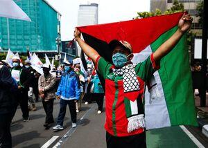 عکس/ تظاهرات مردم اندونزی در حمایت از قدس