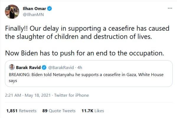 ایلهان عمر: تعلل در آتش بس غزه، دلیل اصلی کشتار فجیع کودکان است