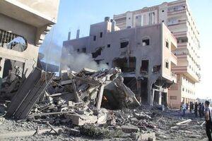 آثار بمباران مناطق مختلف نوار غزه توسط رژیم صهیونیستی