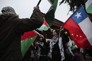 عکس/ مردم شیلی هم به حمایت از غزه به خیابانها آمدند