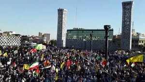 تجمع حماسی مردم تهران در حمایت از مردم فلسطین آغاز شد +عکس