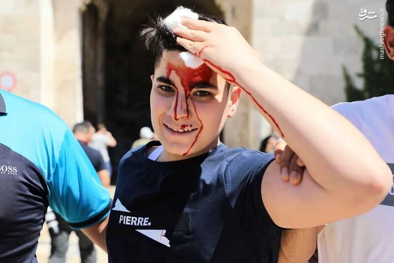 عکس/ حمله نظامیان رژیم صهیونیستی به تجمع فلسطینیان