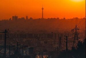 عکس/ غروب دیدنی آفتاب در تهران