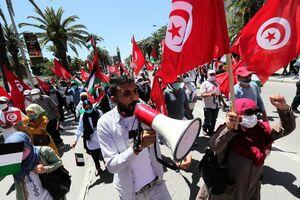عکس/ تظاهرات گسترده مردم تونس در محکومیت رژیم صهیونیستی