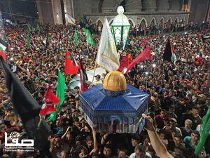 عکس/ جشن پیروزی مردم فلسطین