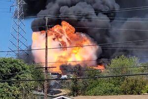 خسارت آتش بازی سه کودک در کالیفرنیا +فیلم