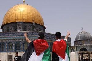 جشن پیروزی جبهه مقاومت فلسطین در مسجدالاقصی