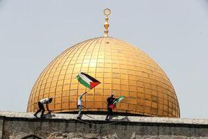 عکس/ جشن پیروزی جبهه مقاومت فلسطین در مسجدالاقصی