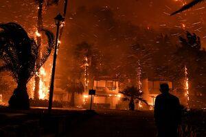 عکس/ بزرگترین حریق یونان در سال ۲۰۲۱