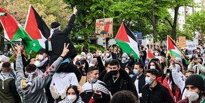 تظاهرات در پایتخت آلمان در همبستگی با فلسطینیان +عکس