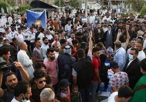 تظاهرات پرشور مردم عراق در حمایت از مردم فلسطین+تصاویر
