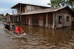 جاری شدن سیل در برزیل